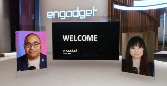 Engadget CES 2021 stage